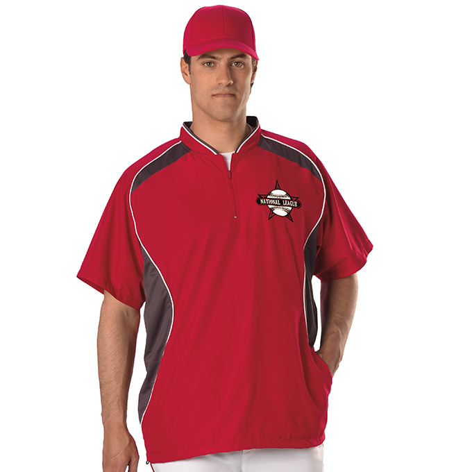 Youth Short Sleeve Baseball Batters Jacket