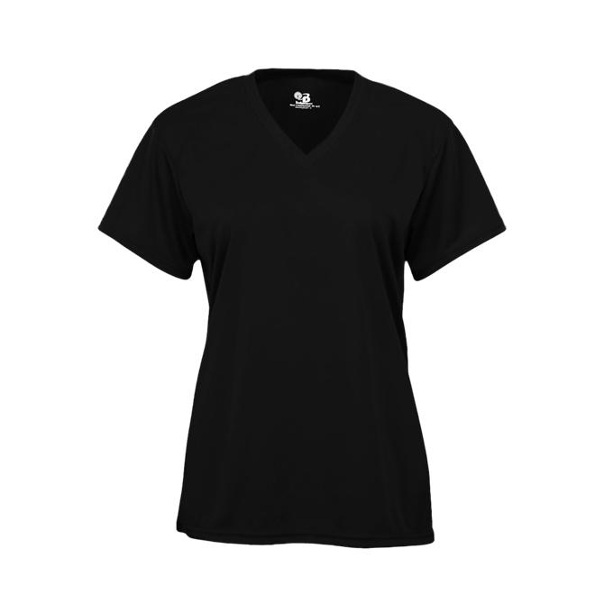 black v neck t shirt women's
