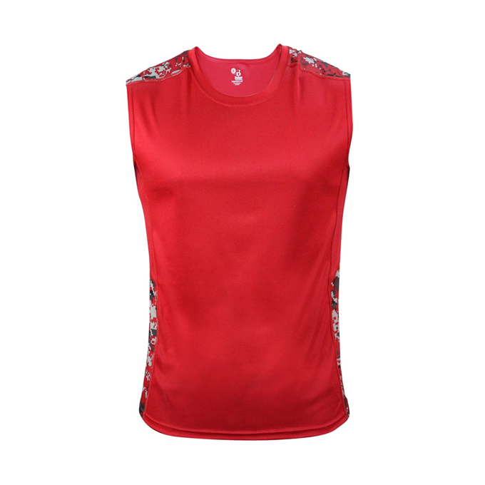 Digital Fitted Sleeveless Tee