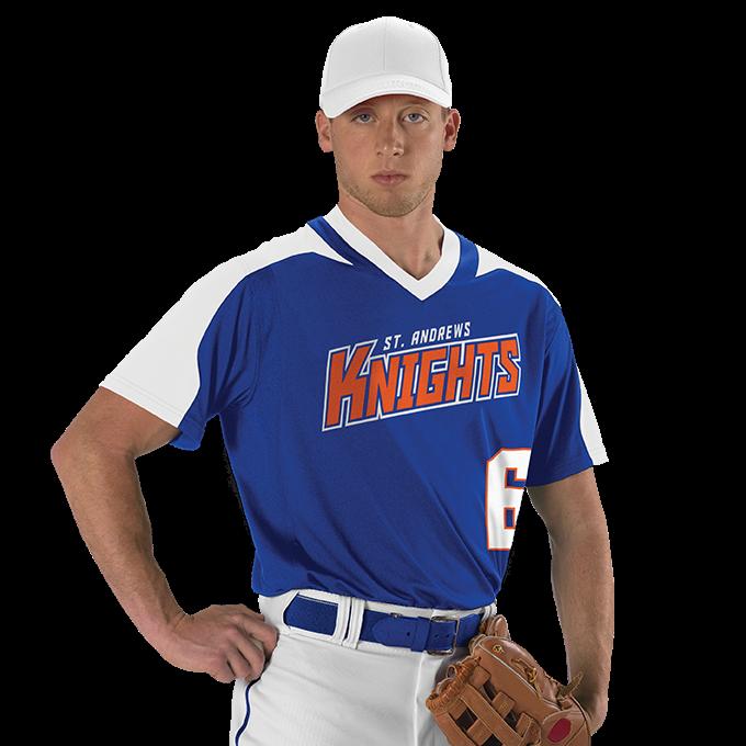 Adult V Neck Baseball Jersey