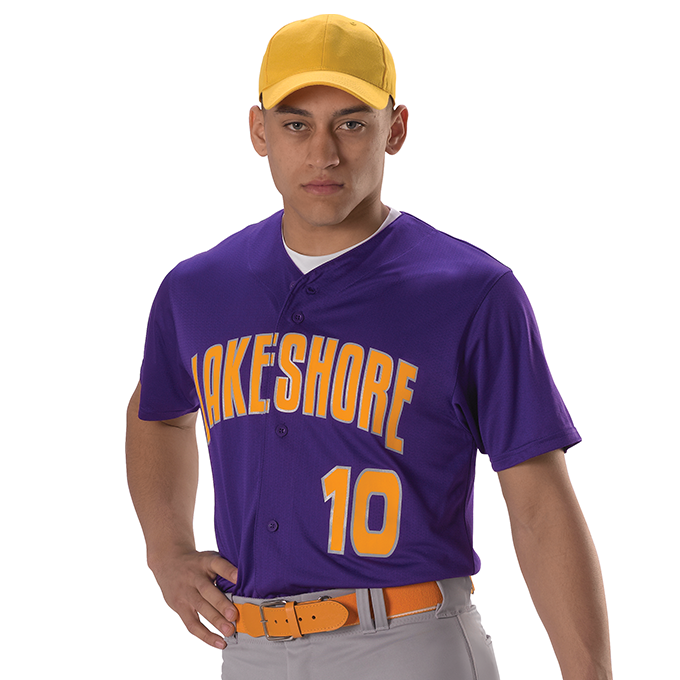 Adult Full Button Lightweight Baseball Jersey