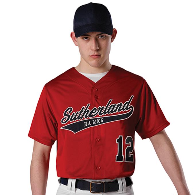 Adult Faux Mesh Baseball Jersey