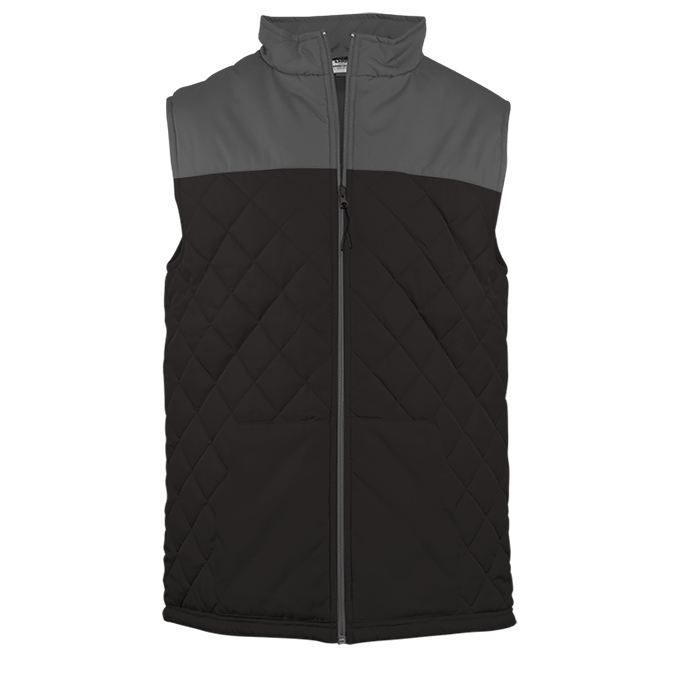 Colorblock Quilted Vest