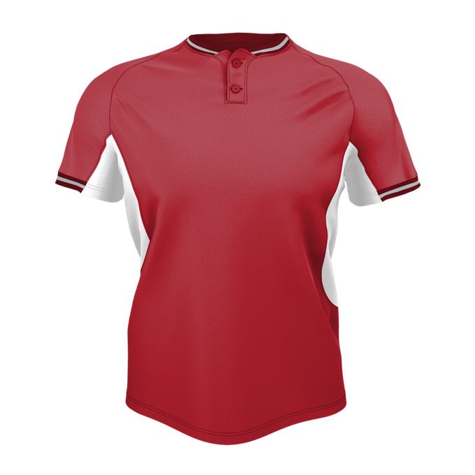 Adult 2 Button Baseball Jersey