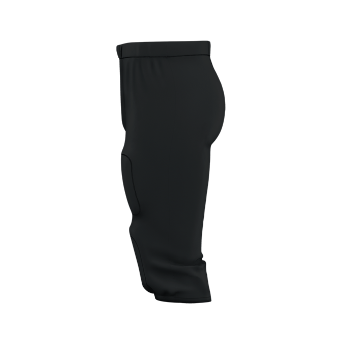 """Alleson 687PY Youth /""""Solo/"""" Series Integrated Football Pant Black 2XL"""