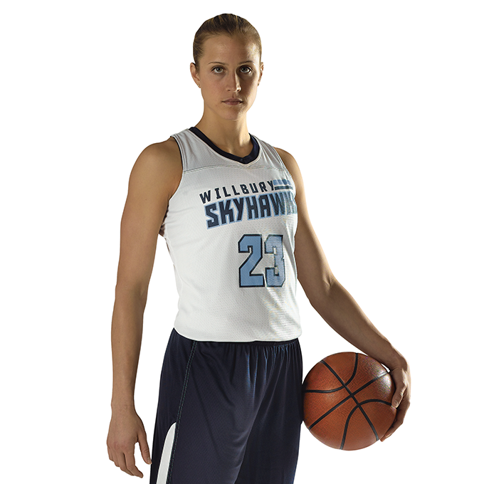 Girls Blank Reversible WNBA Racerback Jersey