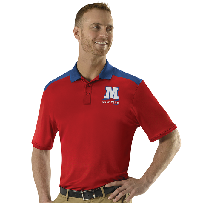 Adult Color Block Gameday Basic Polo