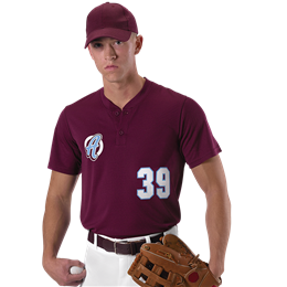 Adult Baseball 2 Button Henley Jersey