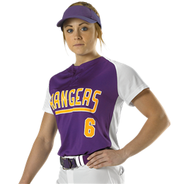 Womens Two Button Fastpitch Jersey