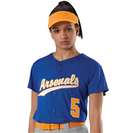 Women's Faux Front Fastpitch Jersey