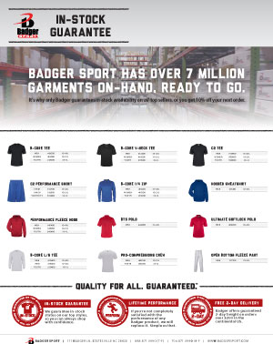 Badger Sales Sheet - In Stock Guarantee