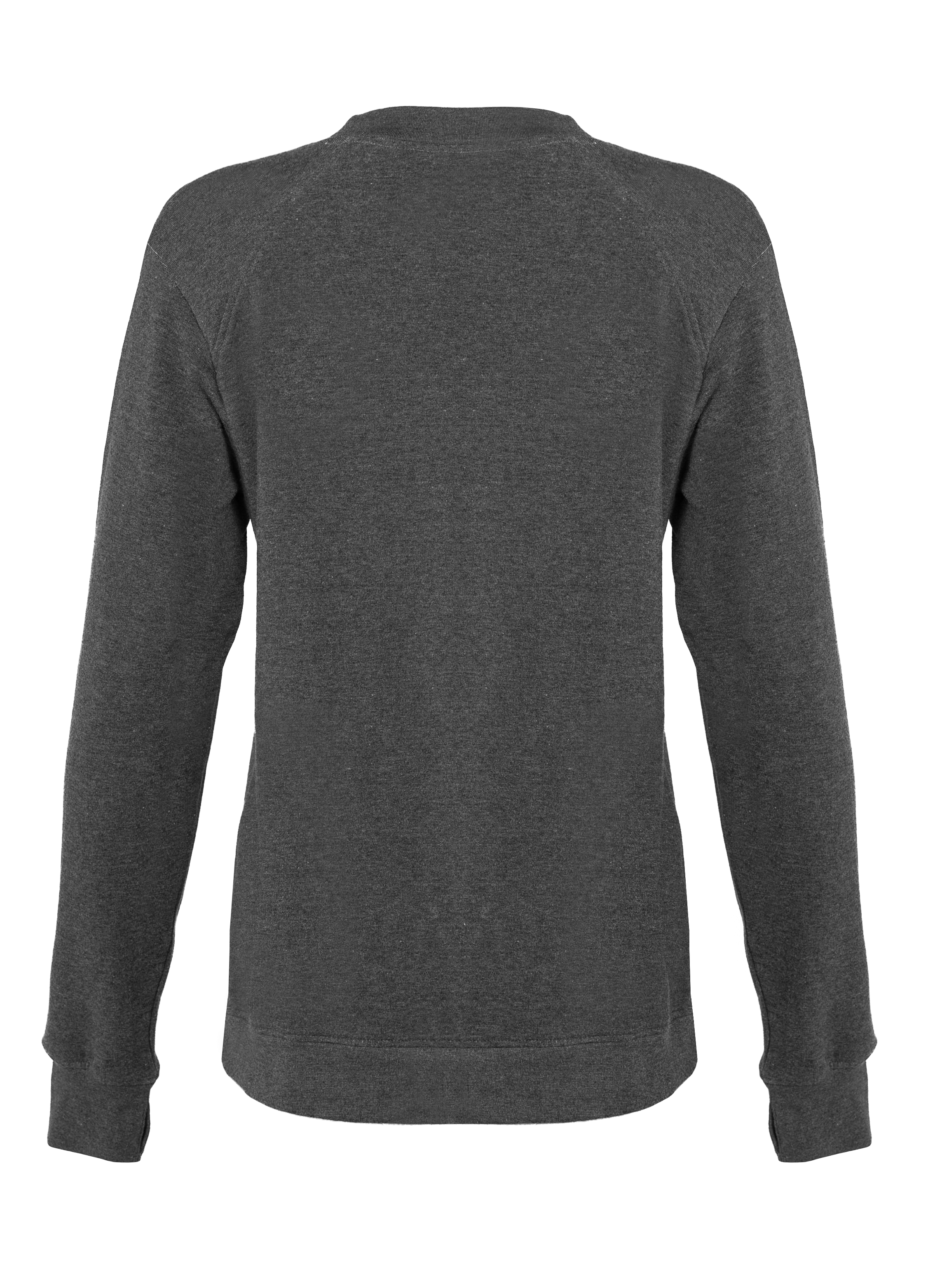 Fitflex French Terry Women's Crew - Charcoal (001041CH)