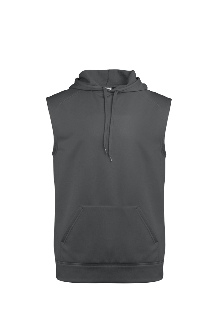 Perf. Fleece Sleeveless Hood - Graphite