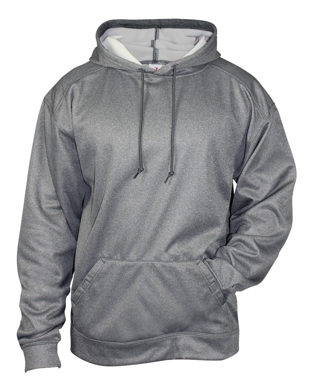 Pro Heather Fleece Hood - Steel Heather