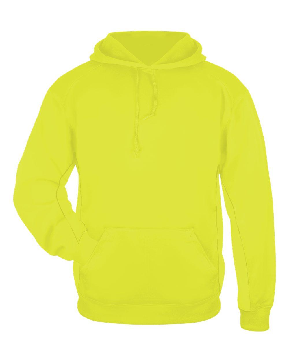 Perf. Fleece Hood - Safety Yellow