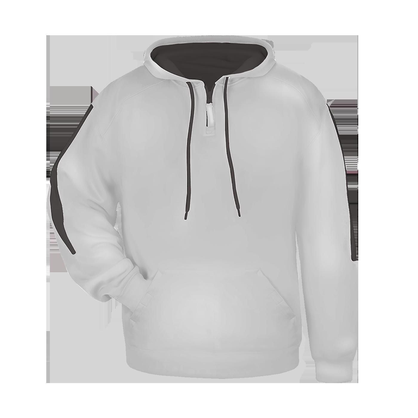Sideline Fleece Hood - Silver/Graphite