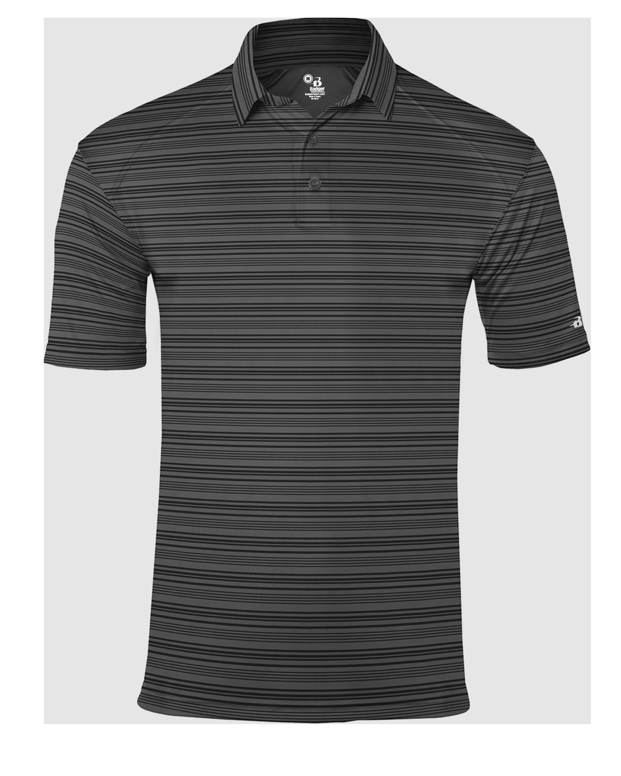 Stripe Polo - Black Stripe