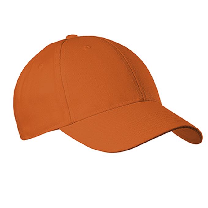 Adult Six Panel Baseball Cap - Burnt Orange