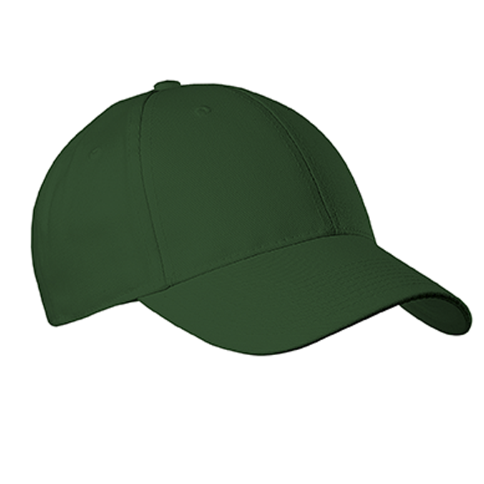 Youth Six Panel Baseball Cap - Forest