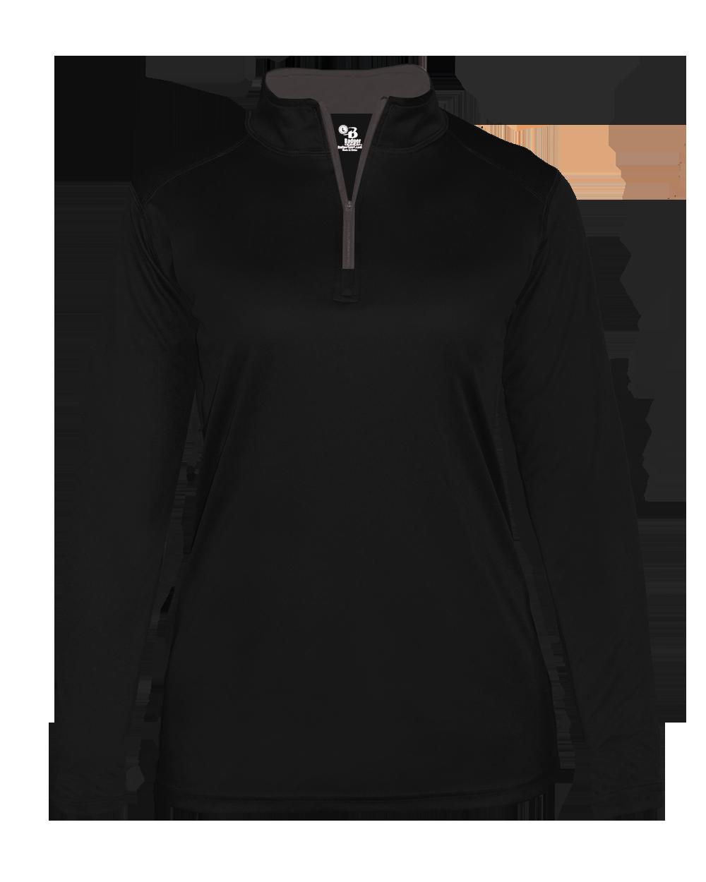 B-Core Women's 1/4 Zip - Black/Graphite