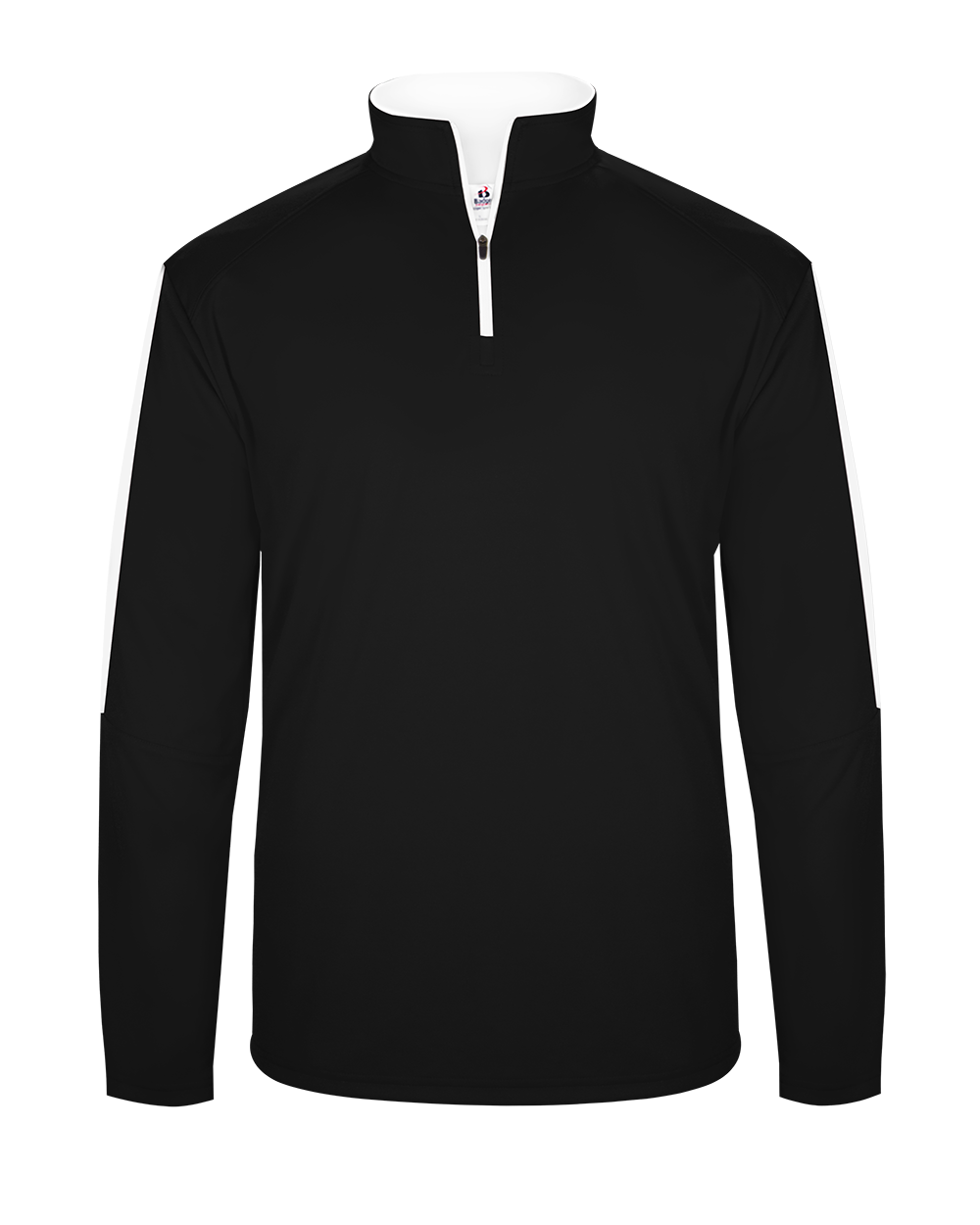 Sideline 1/4 Zip - Black/White