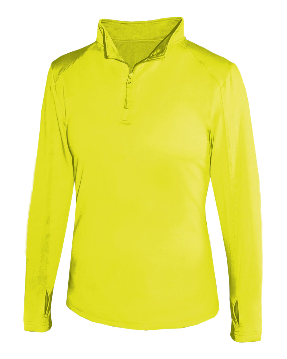 1/4 Zip Women's Lightweight Pullover - Safety Yellow