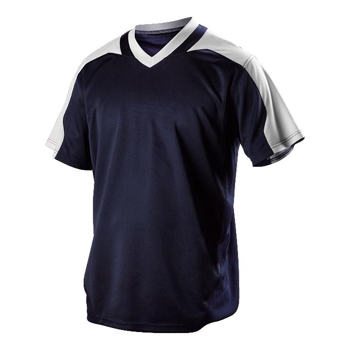 Adult V Neck Baseball Jersey - Navy/White (521VNA)