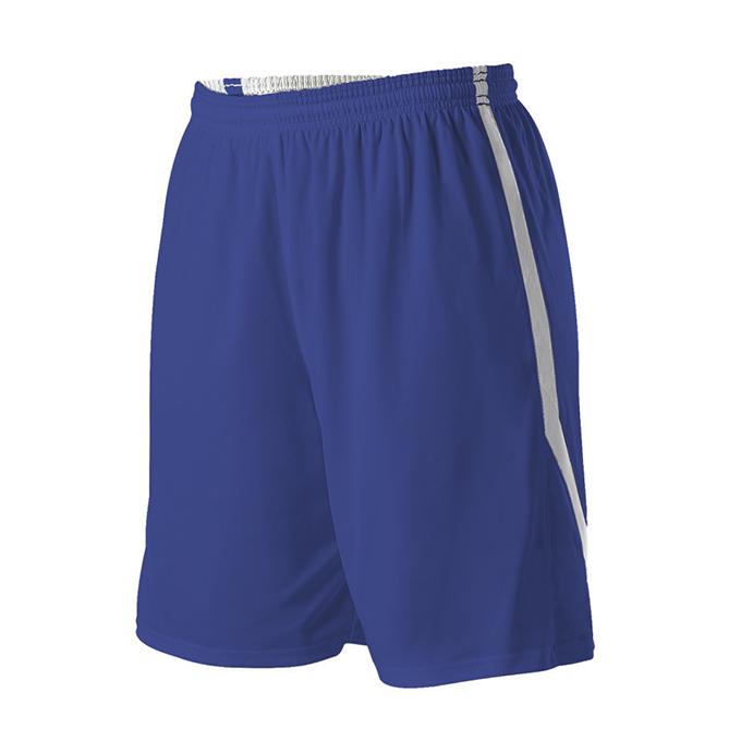 Womens Reversible Basketball Short - Royal/White