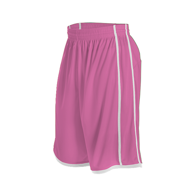 Adult Basketball Short - Pink/White