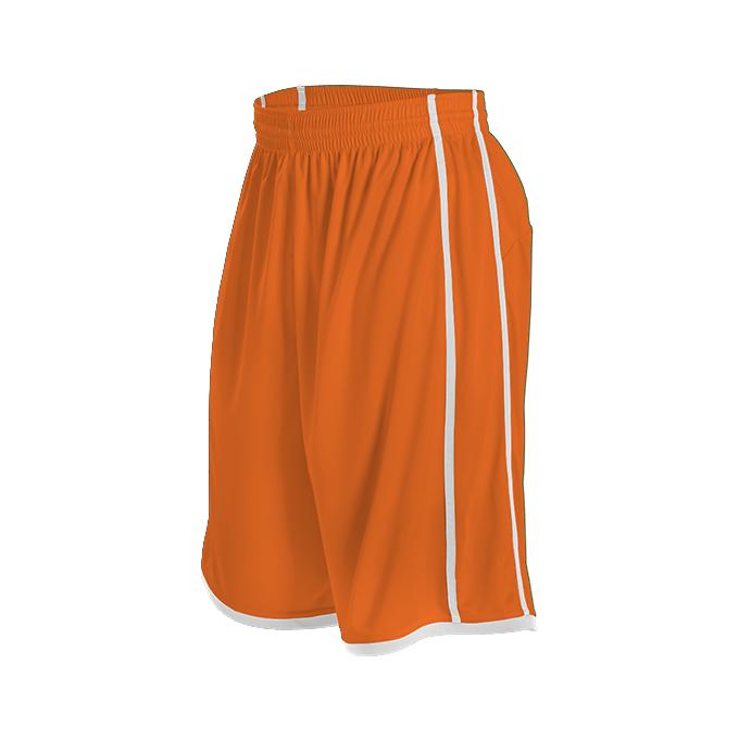 Womens Basketball Short - Burnt Orange/White