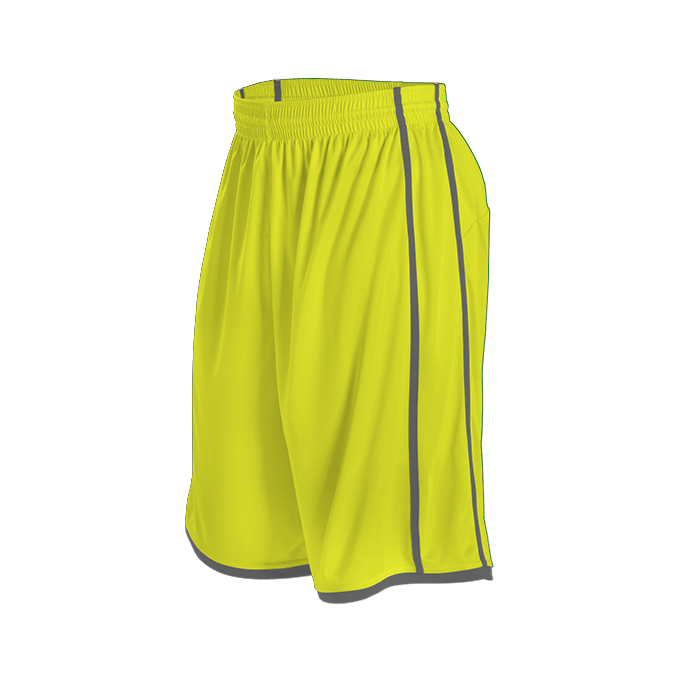 Womens Basketball Short - Electric Yellow/ Charcoal Solid