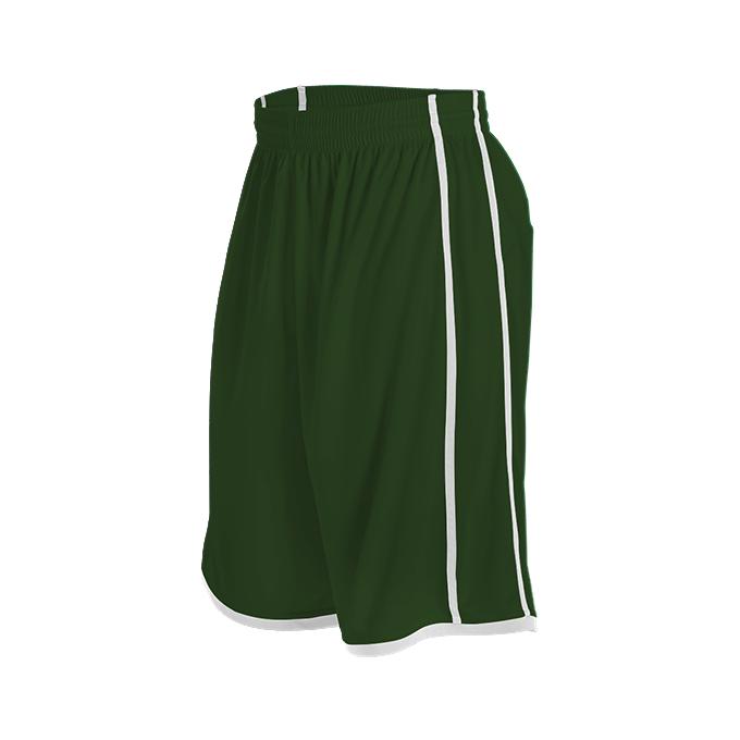 Womens Basketball Short - Forest/White