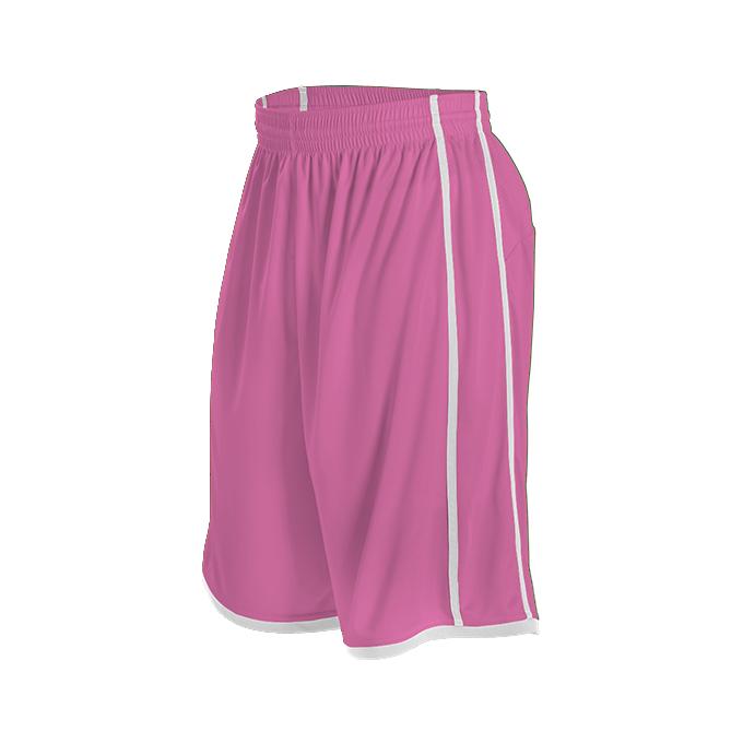 Youth Basketball Short - Pink/White