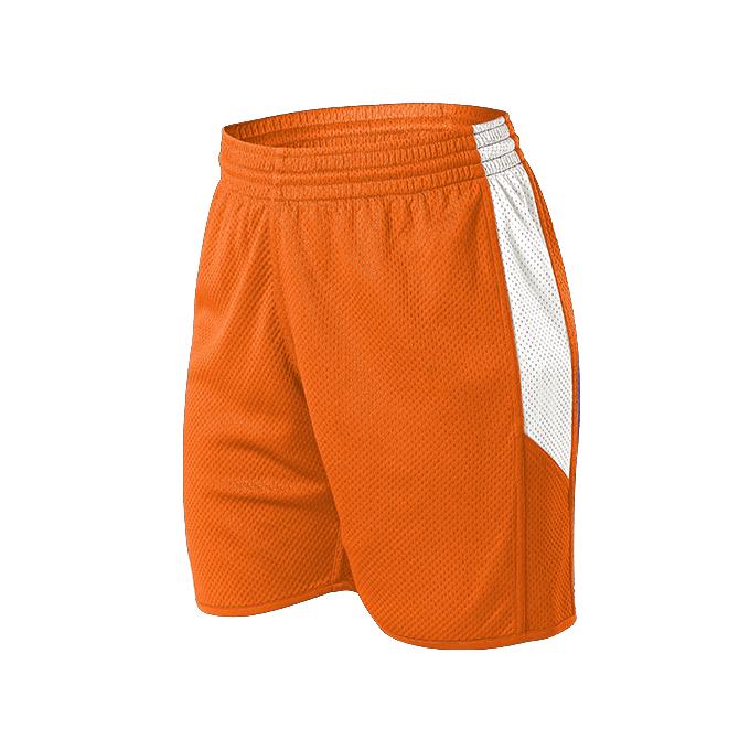 Womens Single Ply Reversible Short - Burnt Orange/White