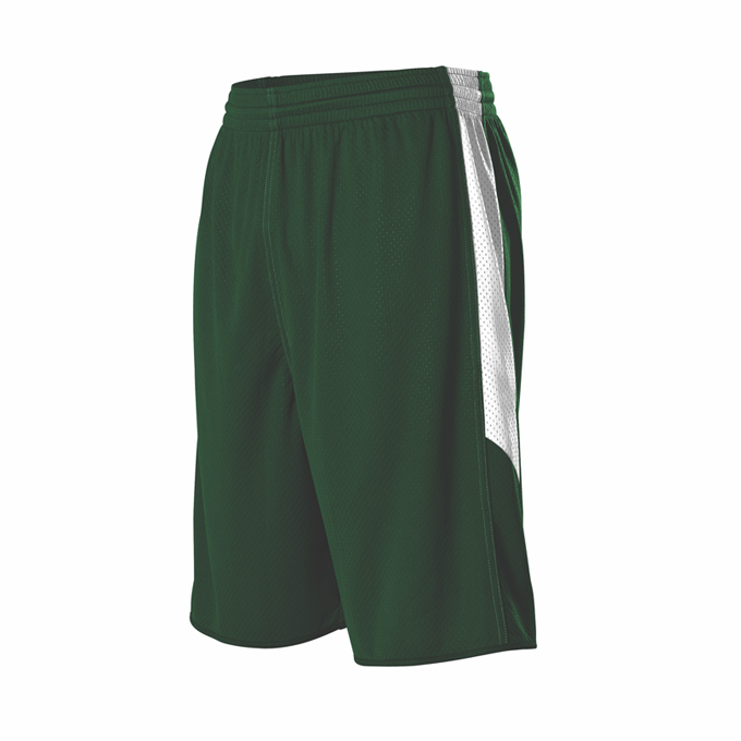 Youth Single Ply Reversible Short - Forest/White