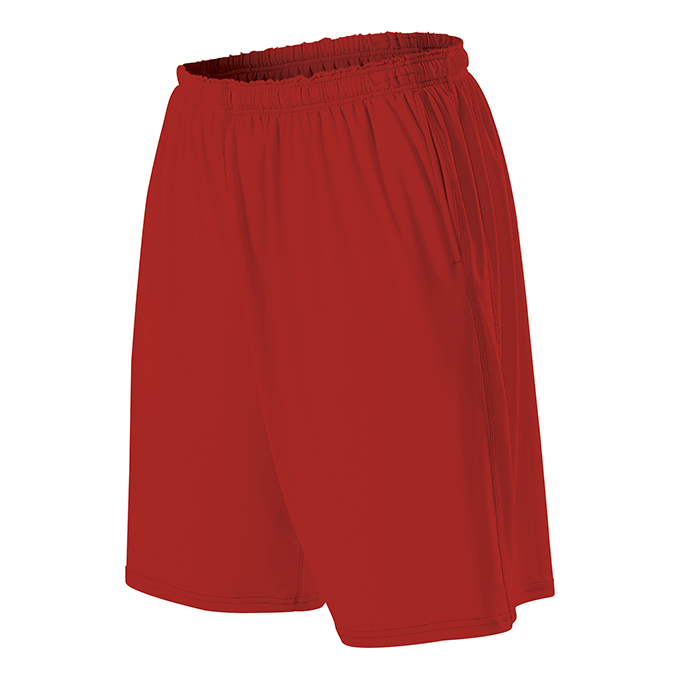 Youth Training Short With Pocket - Red