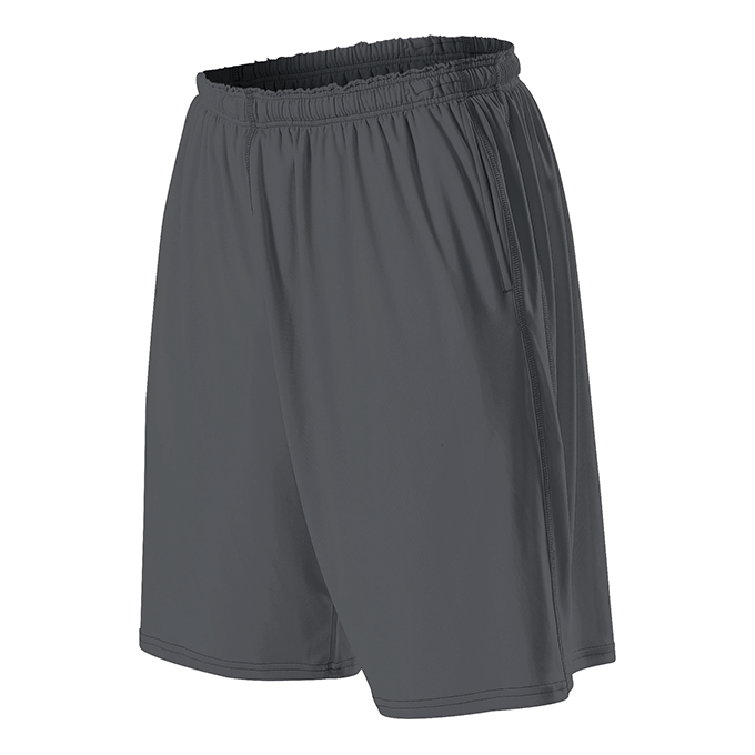 Adult Training Shorts With Pocket - Charcoal Solid
