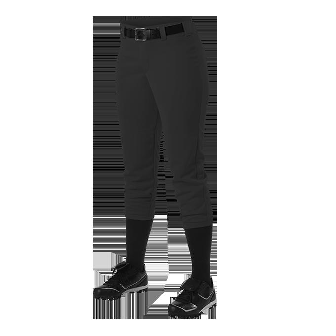 Womens Belt Loop Fastpitch Pant - Black