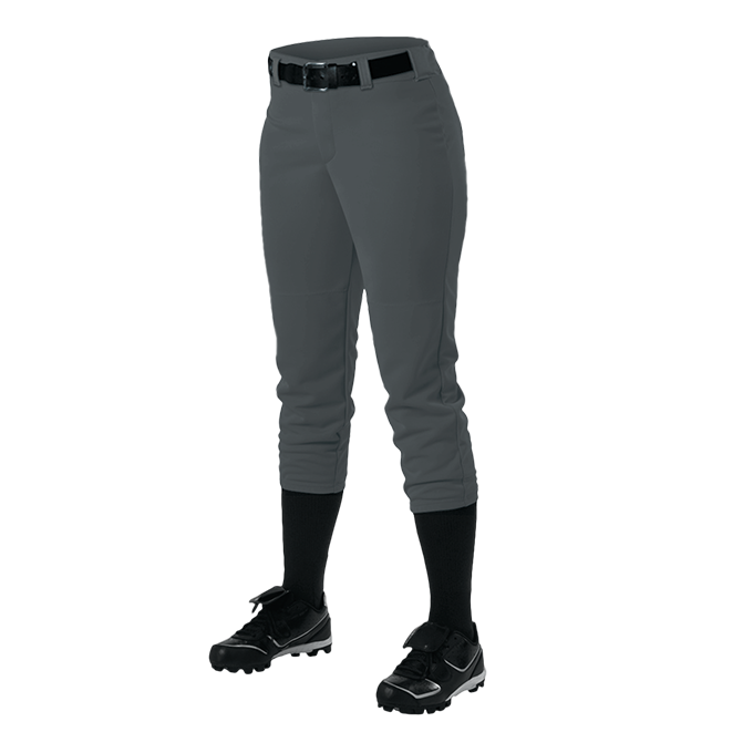 Womens Belt Loop Fastpitch Pant - Charcoal Solid