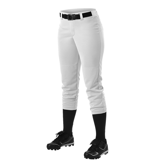 Womens Belt Loop Fastpitch Pant - White