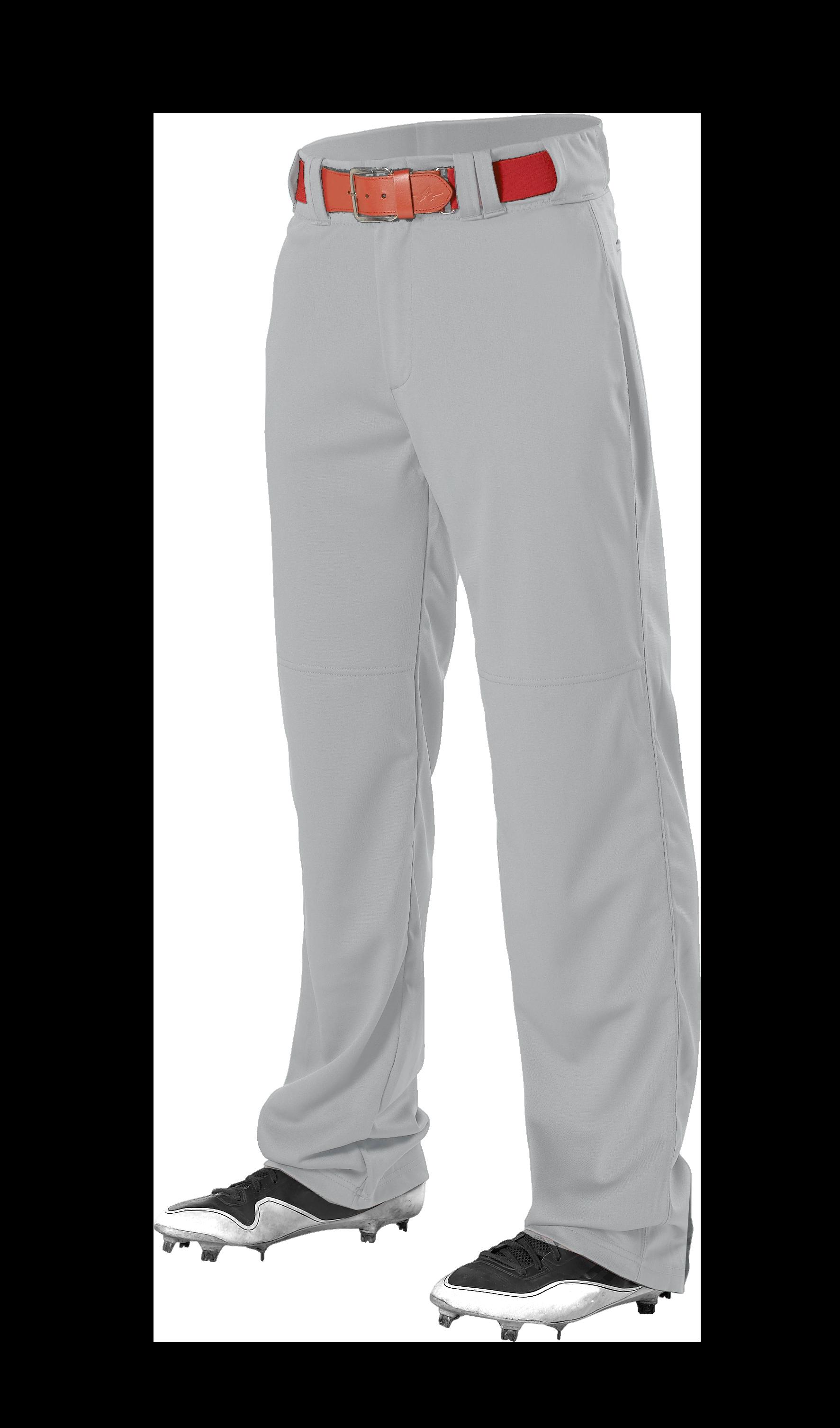 Youth Adjustable Inseam Baseball Pant - Grey