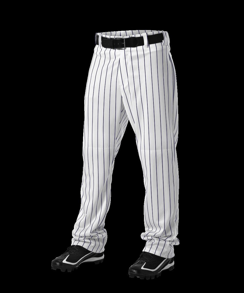 Youth PinStripe Baseball Pant - White/Navy