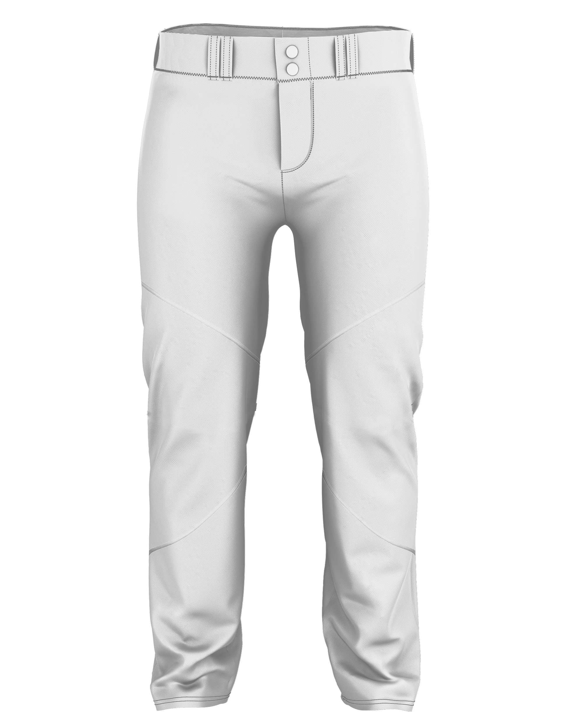 Adult Crush Premier Braided Baseball Pant - White/Red