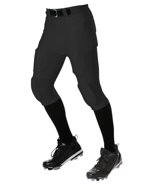 Youth No Fly Football Pant With Slotted Waist - Black