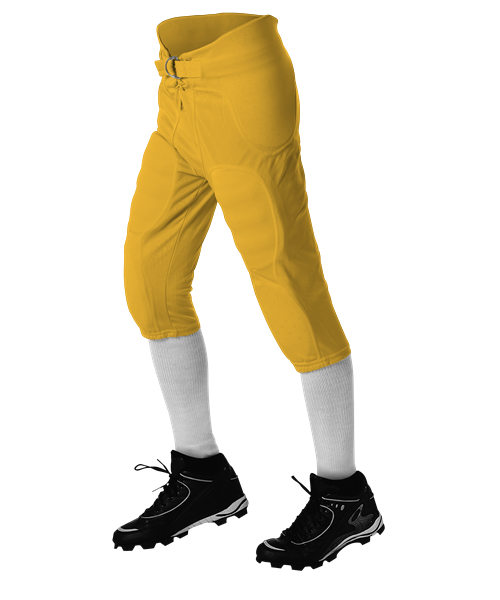Youth Solo Series Integrated Football Pant - Gold
