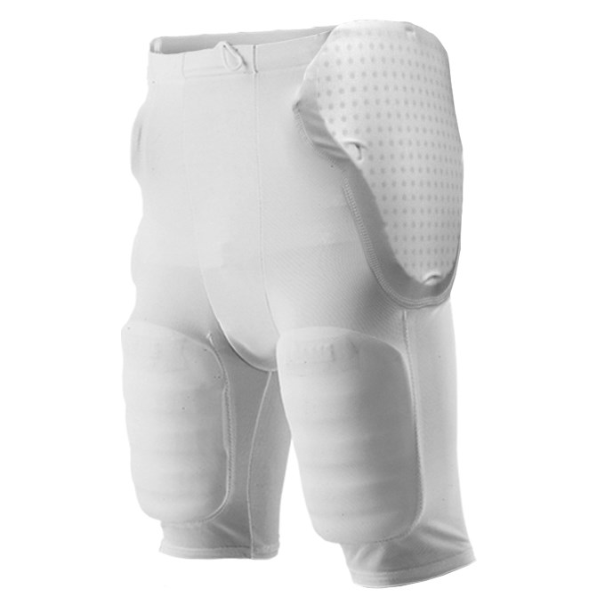 Adult Five Pad Football Girdle - White