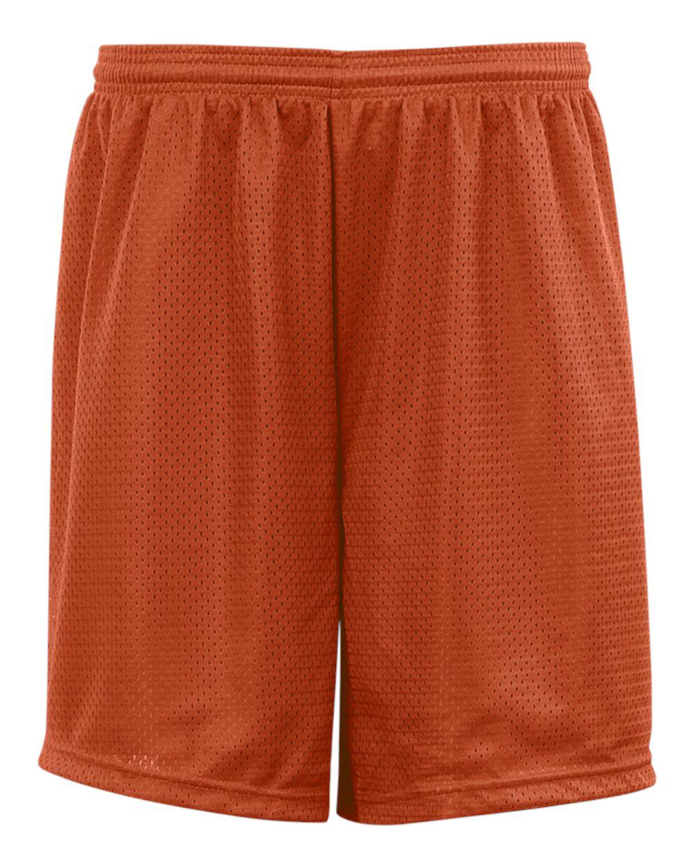 Mesh/Tricot 9 Inch Short - Burnt Orange