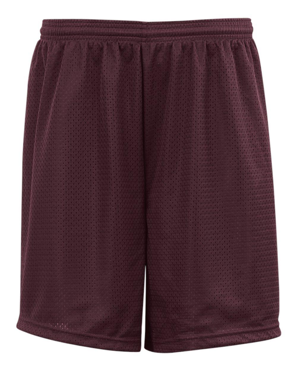 Mesh/Tricot 9 Inch Short - Maroon