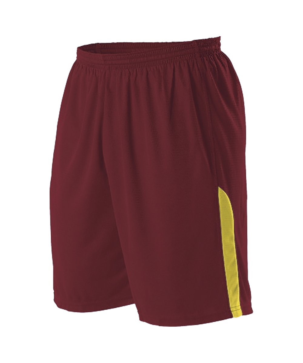 Youth NBA Blank Game Short - Wine/ Gold