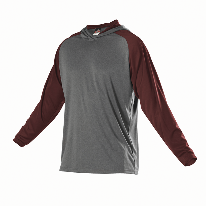 Womens Gameday Hoodie - Charcoal Solid Heather/ Light Maroon